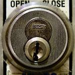 Open Closed lock photo